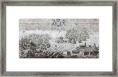 The Spanish Armada Flying To Calais Framed Print