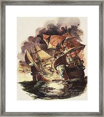 The Spanish Armada Framed Print by Peter Jackson