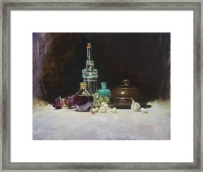The Spanish Bottle Framed Print