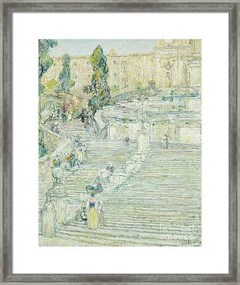 The Spanish Stairs, Rome, 1897 Framed Print by Childe Hassam