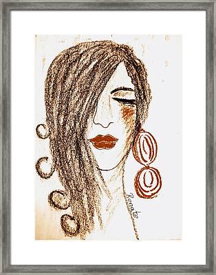 The Spanish Woman.... Framed Print