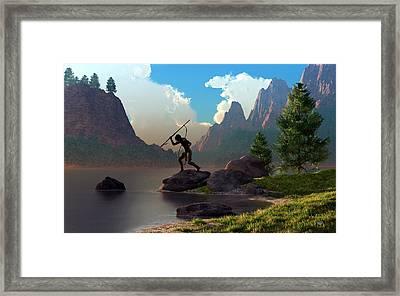 The Spear Fisher Framed Print by Daniel Eskridge