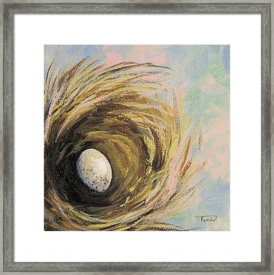 The Speckled Egg Framed Print by Torrie Smiley