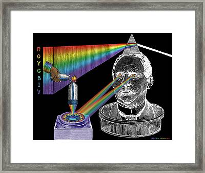 The Spectre Of Chromatopia Framed Print by Eric Edelman