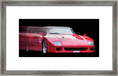 The Speed Of A Ferrari Framed Print