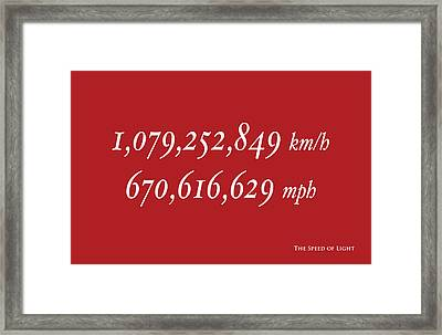 The Speed Of Light Framed Print by Michael Tompsett