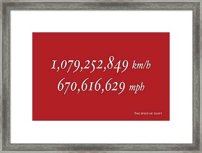 The Speed Of Light Framed Print by Michael Tompsett