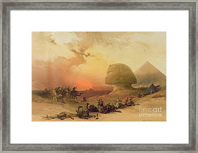 The Sphinx At Giza Framed Print by David Roberts