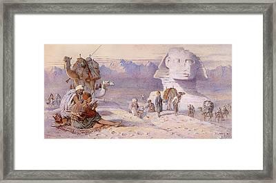 The Sphinx In Giza Framed Print