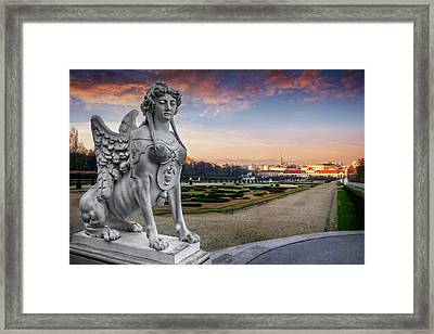 The Sphinx Of The Belvedere Vienna  Framed Print by Carol Japp