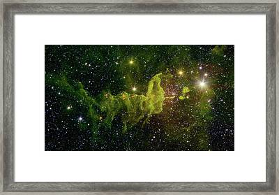 The Spider And The Fly Nebula Framed Print by NASA JPL - Caltech