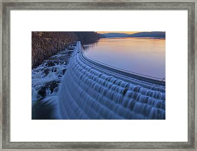 The Spillway At Dawn Framed Print