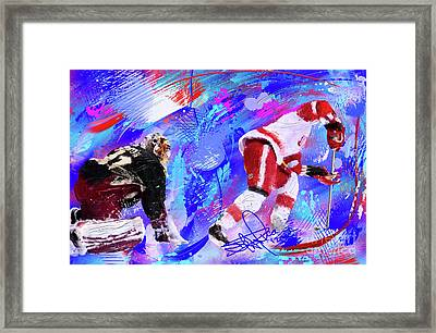 The Spin Todd Bertuzzi Framed Print by Donald Pavlica