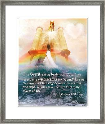 The Spirit And The Bride Framed Print