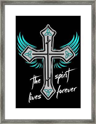 The Spirit Lives Forever II Framed Print