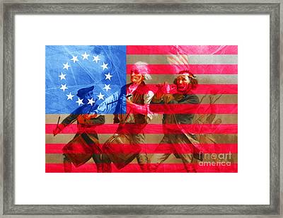 The Spirit Of 76 And The American Flag 20150704 Framed Print by Wingsdomain Art and Photography