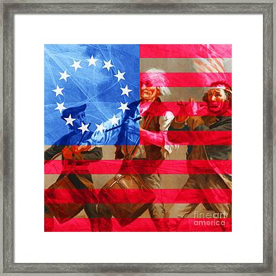 The Spirit Of 76 And The American Flag 20150704square Framed Print