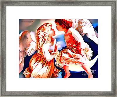 The Spirit Of A First Kiss Framed Print by Catherine Lott