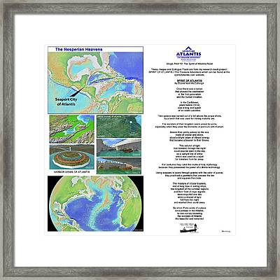 The Spirit Of Atlantis Poem Framed Print