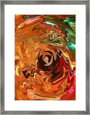 The Spirit Of Christmas - Abstract Art Framed Print by Carol Groenen