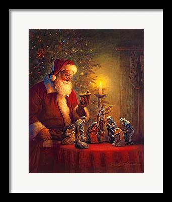 Santa Framed Prints