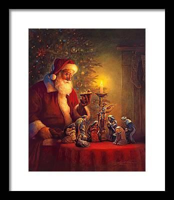 Santa Framed Prints