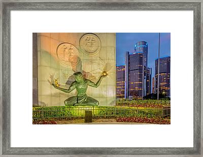 The Spirit Of Detroit  Framed Print