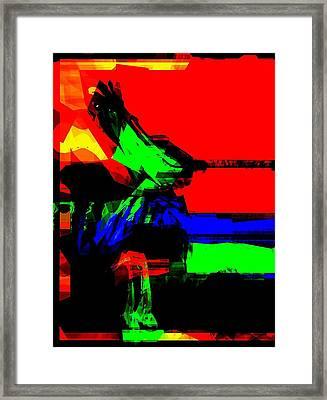The Spirit Of Music Framed Print by Fania Simon
