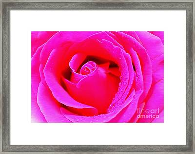 The Spirit Of Pink Framed Print by Krissy Katsimbras