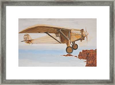 The Spirit Of St. Louis Framed Print by Norman F Jackson