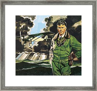 The Spirit Of St Louis Framed Print by Ron Embleton