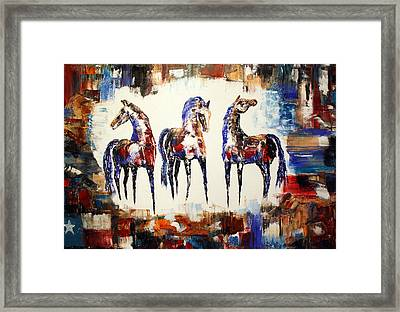 The Spirit Of Texas Horses Framed Print