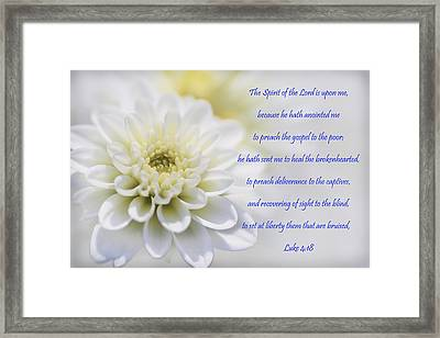 The Spirit Of The Lord Is Upon Me Framed Print