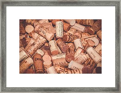 The Spirit Of Wine Framed Print by Colleen Kammerer