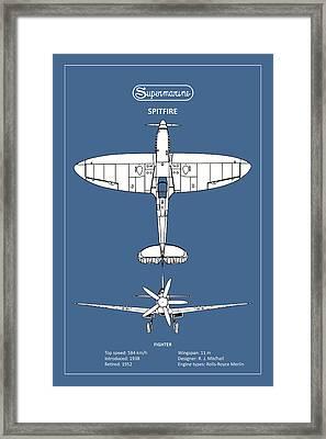 The Spitfire Framed Print by Mark Rogan