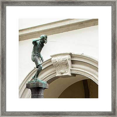 The Spitting Boy Of Koblenz - Germany Framed Print by Jon Berghoff