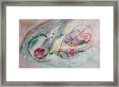 The Splash Of Life 29. The Flowers Framed Print