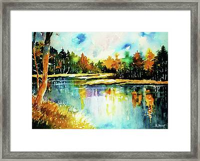 The Splendor And  Color Of Autumn Framed Print by Al Brown