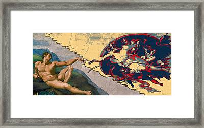 The Splices - Creation Of Adam Framed Print by Serge Averbukh