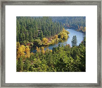 Framed Print featuring the photograph The Spokane River  by Ben Upham III