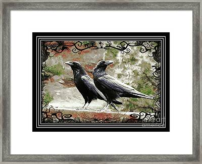 The Spooky Ravens Framed Print