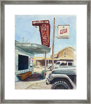 The Sportsman's Drive-in Framed Print by Tansill Stough