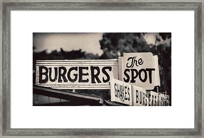 The Spot Framed Print