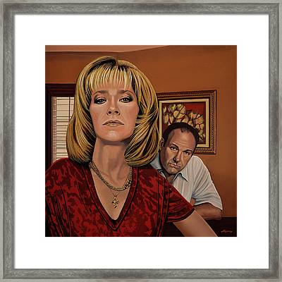 The Sopranos Painting Framed Print