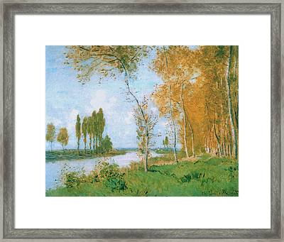 The Spring In Argentuil, 1872 Framed Print by Claude Monet