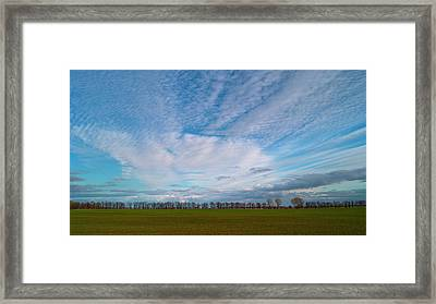 The Springtime Sky. Horytsya, 2010. Framed Print