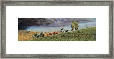 The Sprint Framed Print by Christian Vandehaar