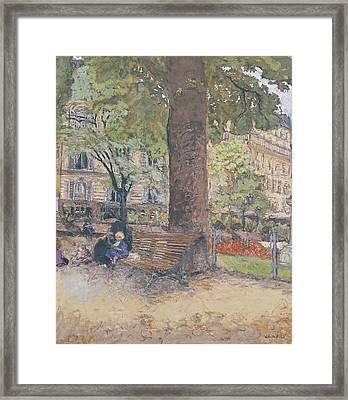 The Square At Vintimille Framed Print by Edouard Vuillard