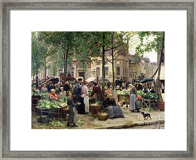 The Square In Front Of Les Halles Framed Print