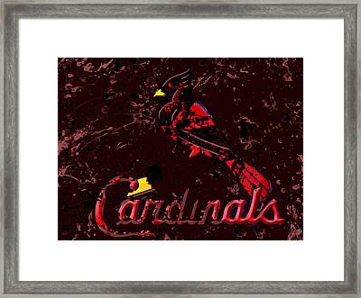 The St Louis Cardinals 6a Framed Print by Brian Reaves